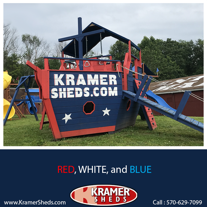 Kramers Sheds 187 We Have Your Red White Or Blue